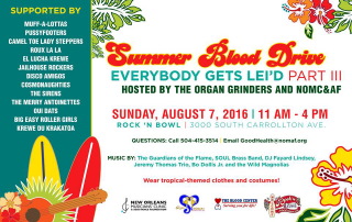 Summer Blood Drive Everybody Gets Leid 2016