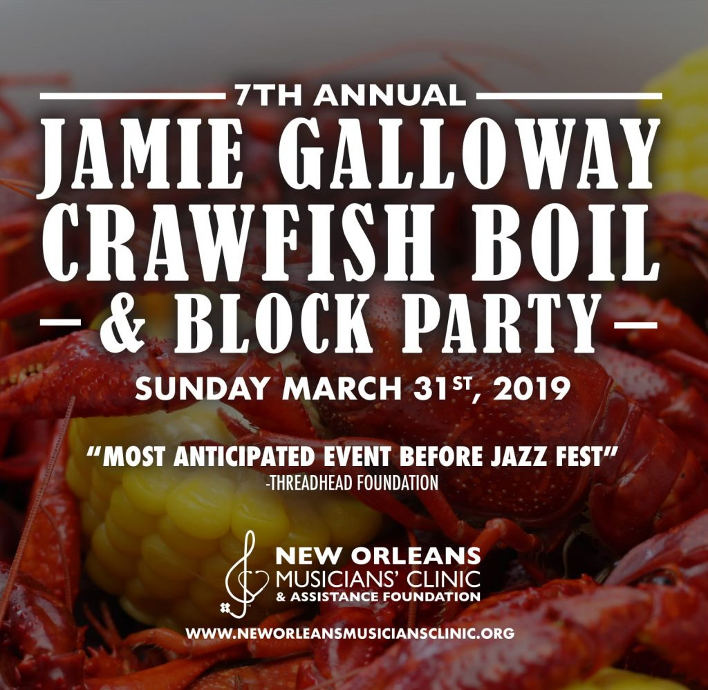 Jame Galloway Crawfish Boil & Block Party 2018