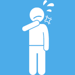 graphic of person coughing