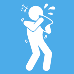 graphic of person sneezing