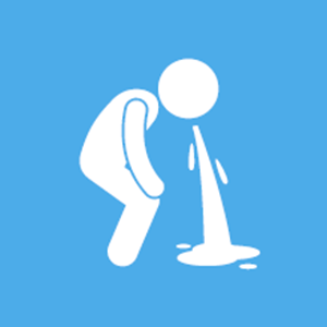Graphic of person vomiting