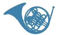 graphic of French horn