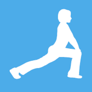 graphic of person stretching